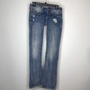 "BKE Sabrina Bootcut Jeans Waist 25"" Distressed"